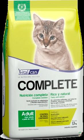 Vital Can  Complete Cat Castrado Control de Peso