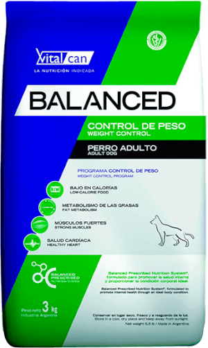 Vital Can  Balanced Control de Peso Perro