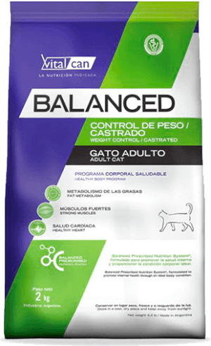 Vital Can  Balanced Gato Control de Peso / Castrado