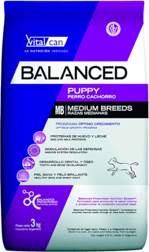 Vital Can  Balanced Cachorro Raza Mediana