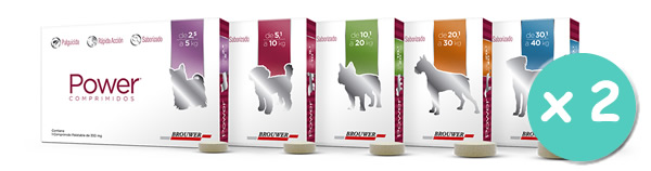 Brouwer Pack Power Pastilla Antipulgas Perros y Gatos x 2