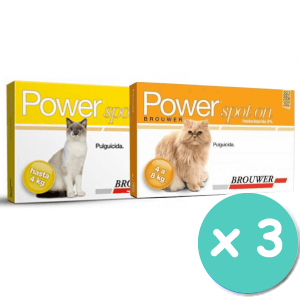 Brouwer Pack Pipetas Power Gatos x 3 Unidades